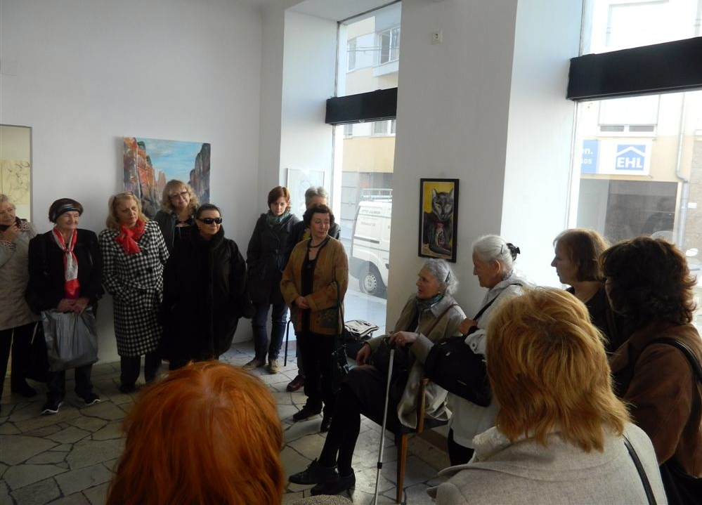 "Exhibition ""NinaWR in Oil"" at the Gallery Kunstraum, photo 1"