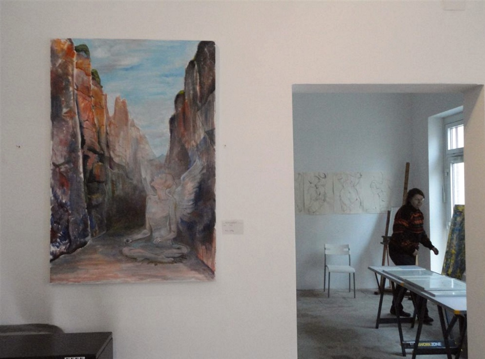 "Exhibition ""NinaWR in Oil"" at the Gallery Kunstraum, photo 5"