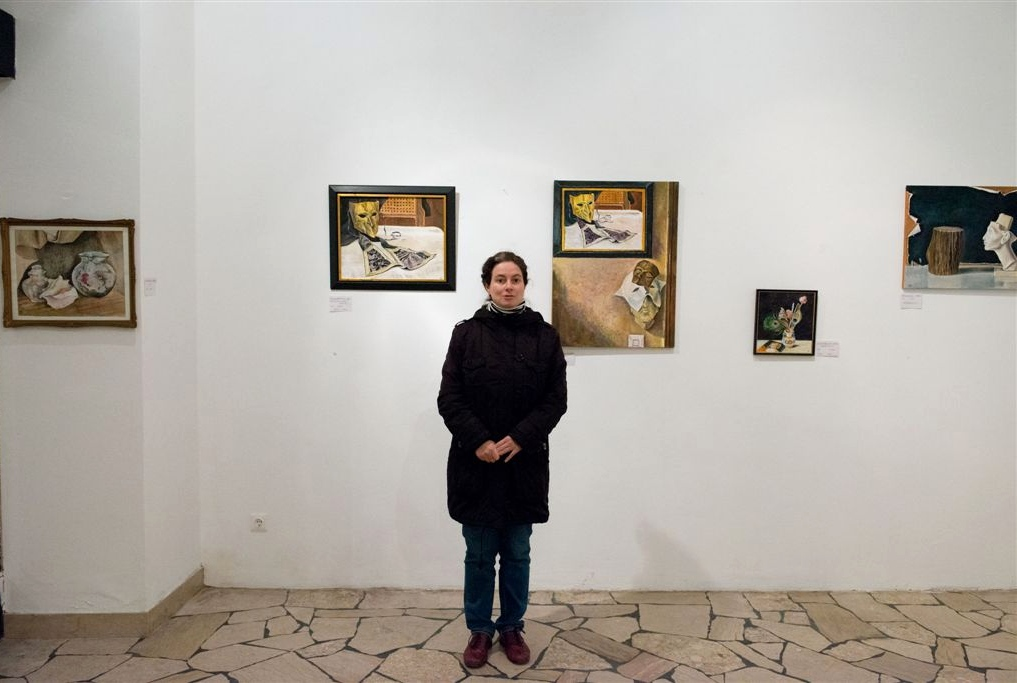 "Exhibition ""NinaWR in Oil"" at the Gallery Kunstraum, photo 9"