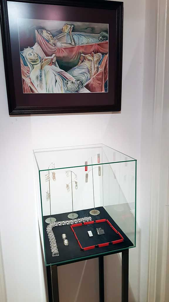 "The Picture  ""Eternal Thirst of Knowledge"" and jewelry case"