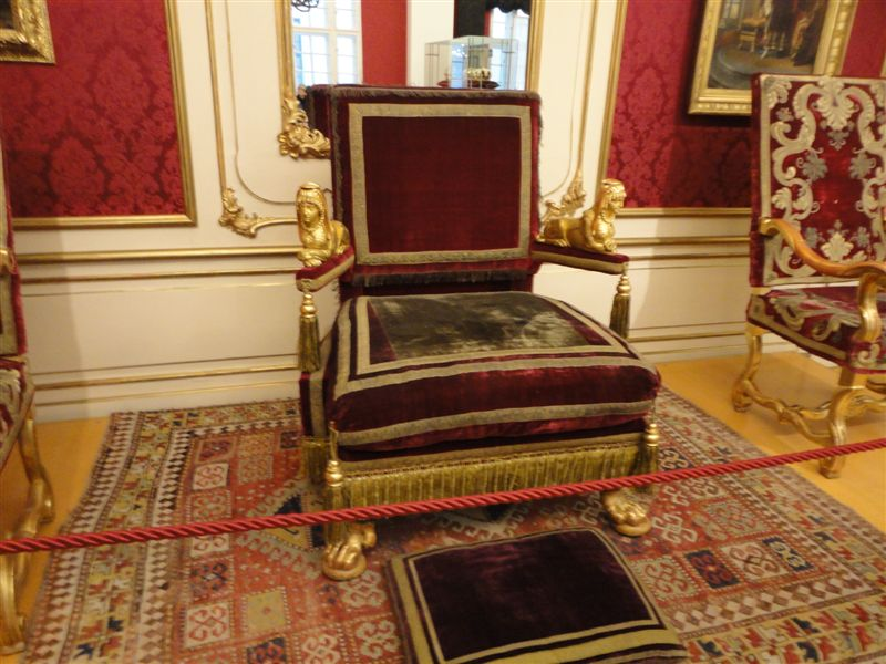 The throne at Imperial Furniture Collection in Vienna