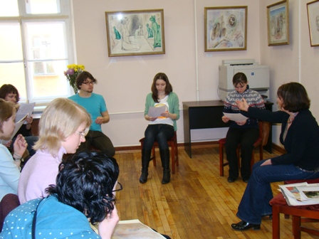 "Photo 1, lecture at the Hermitage""Watercolor, my declaration of love"""