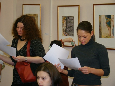 "Photo 2, lecture at the Hermitage""Watercolor, my declaration of love"""