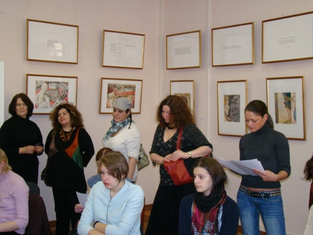 "Photo 3, lecture at the Hermitage""Watercolor, my declaration of love"""