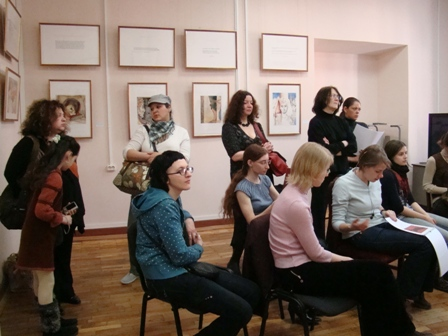 "Photo 4, lecture at the Hermitage""Watercolor, my declaration of love"""