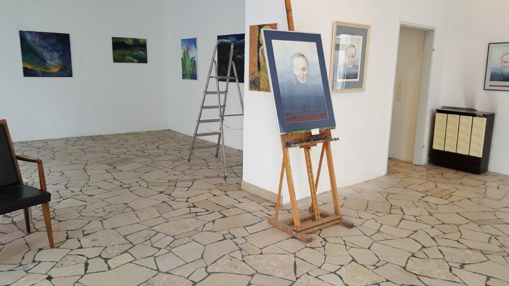 The preparation of the exhibition