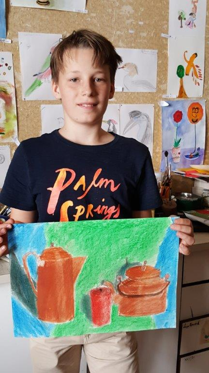 Alexander N., 11 years, with his drawing