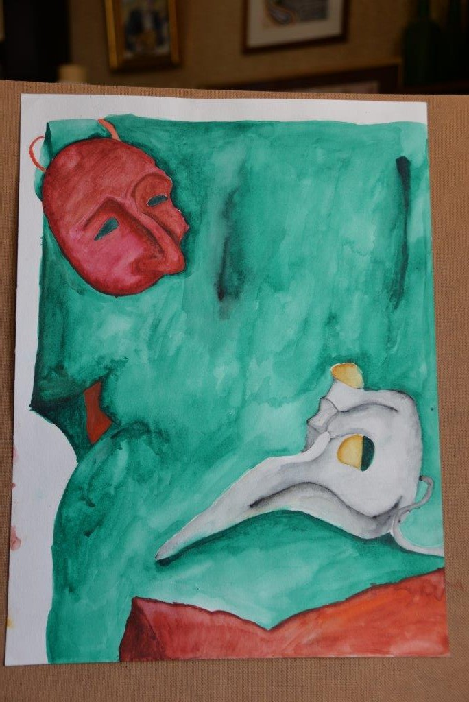 """Two masks"", Sofia M., 12 years"