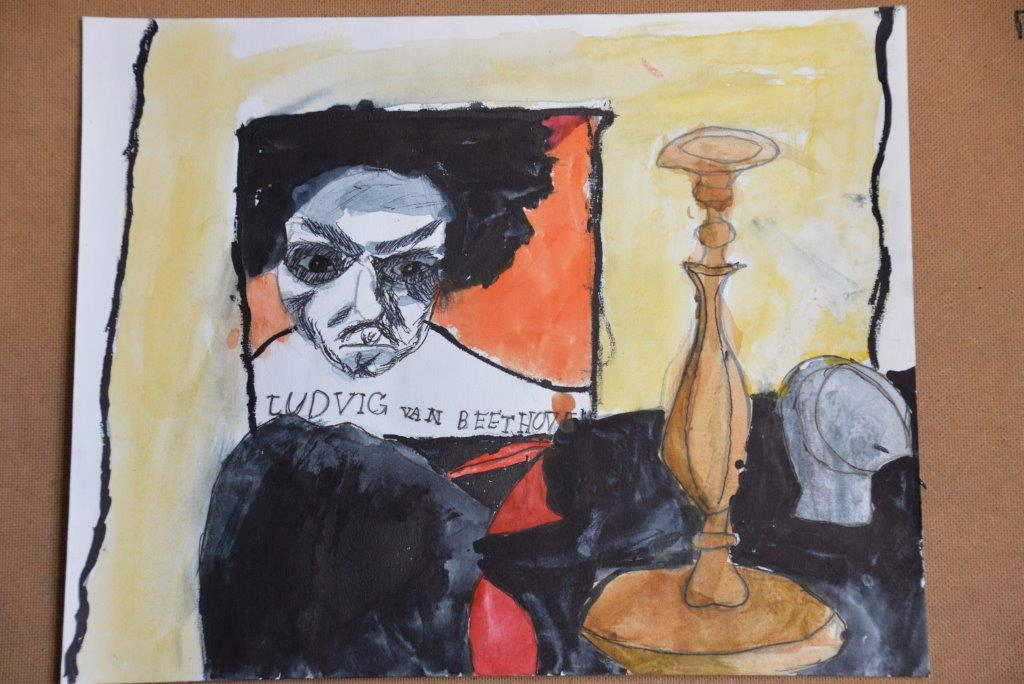 """From still life to portrait. Beethoven"", Jury K., 9 years"